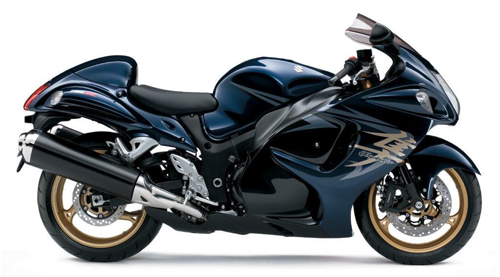 2008年式の隼のカラー(青と黒)