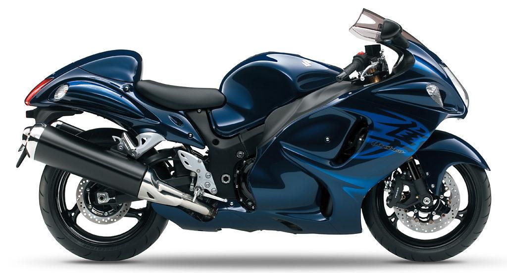 2010年式の隼のカラー(青と黒)