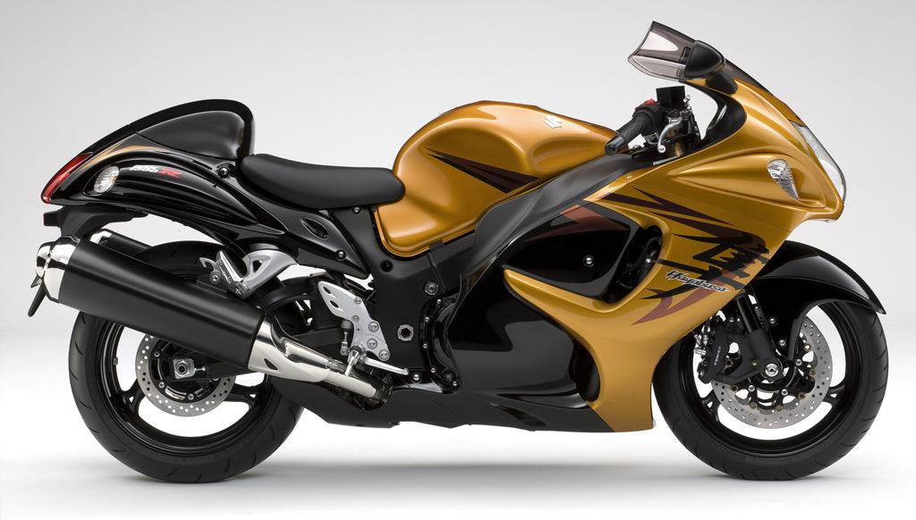 2009年式の隼のカラー(ゴールドと黒)