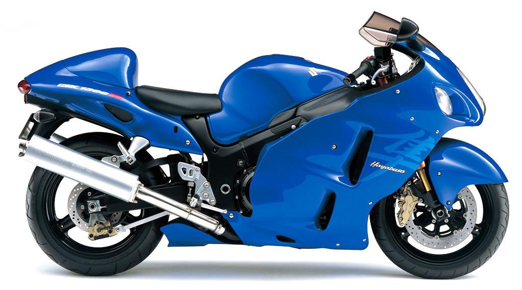 2007年式の隼のカラー(青)