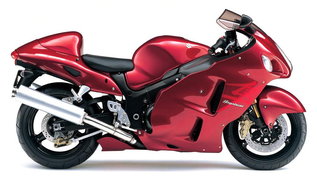2007年式の隼のカラー(赤)