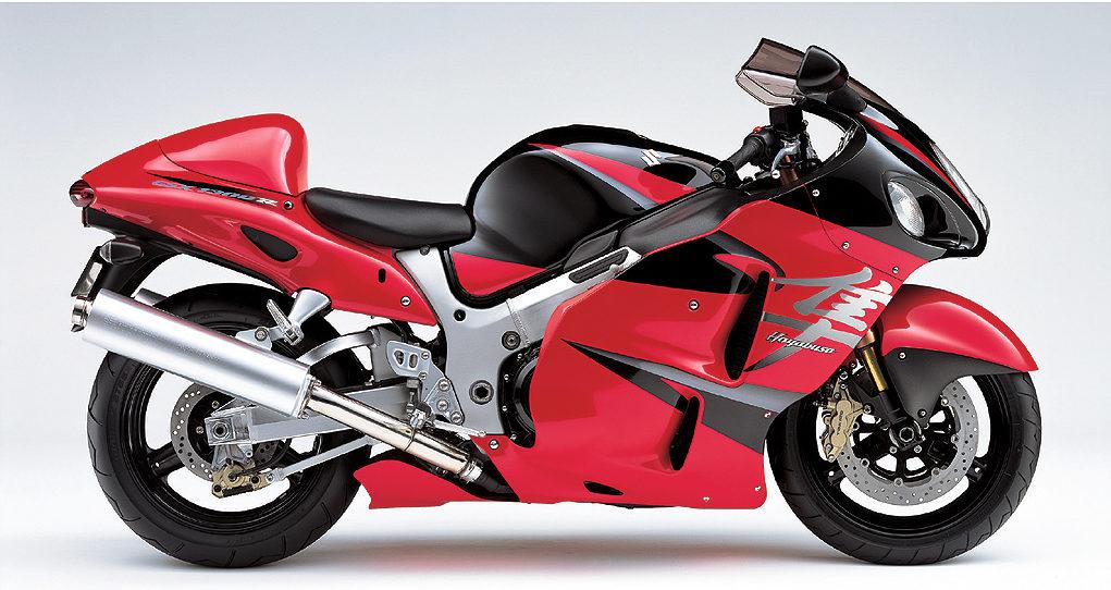 2005年式の隼のカラー(赤と黒)
