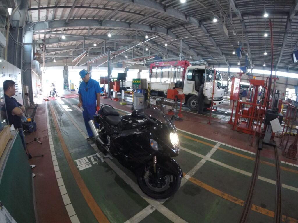 バイクのユーザー車検:排ガス、音量チェック