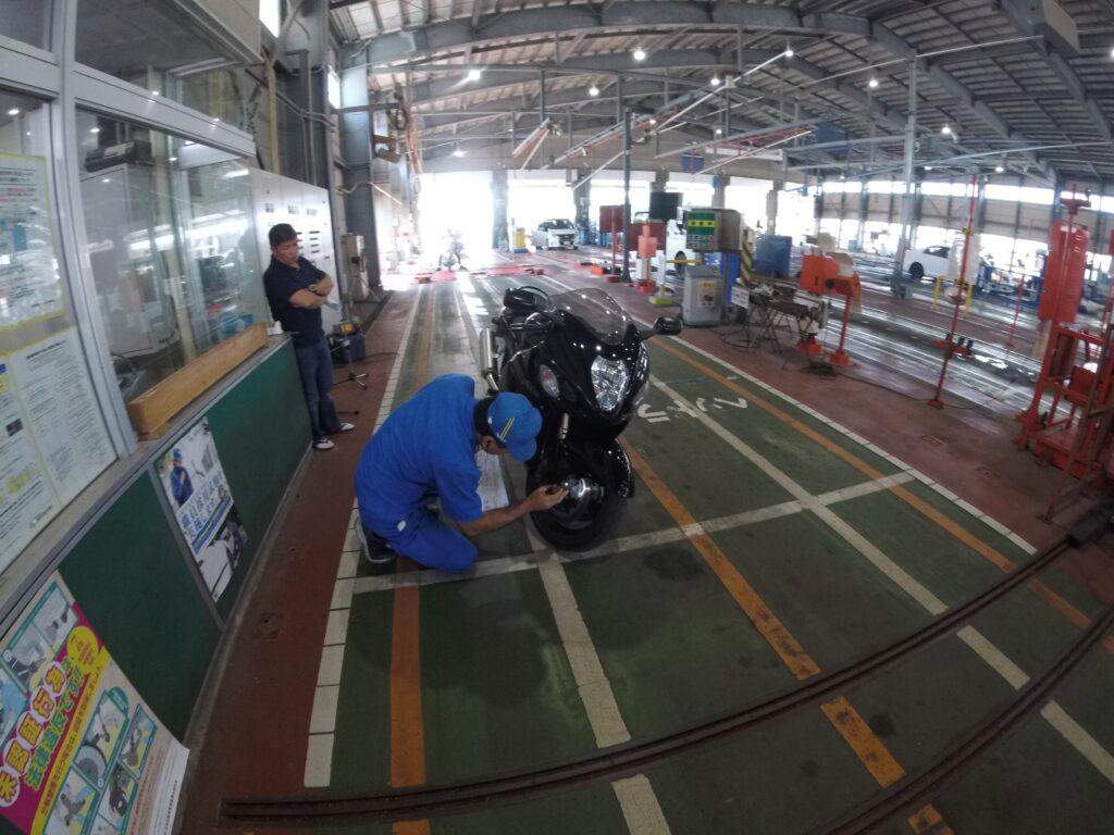 バイクのユーザー車検:目視で確認