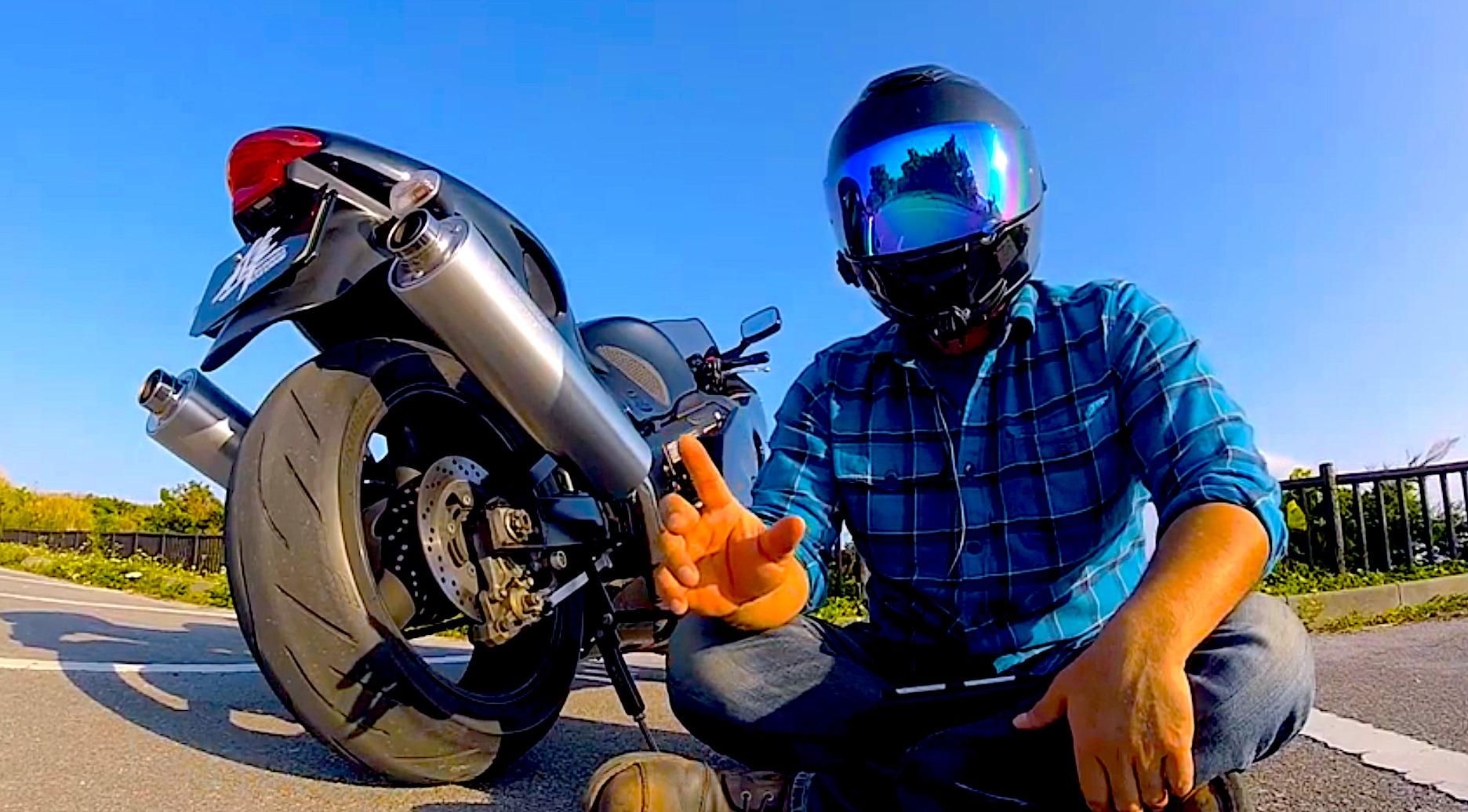 【バイク】タイヤのスリップサイン点検方法