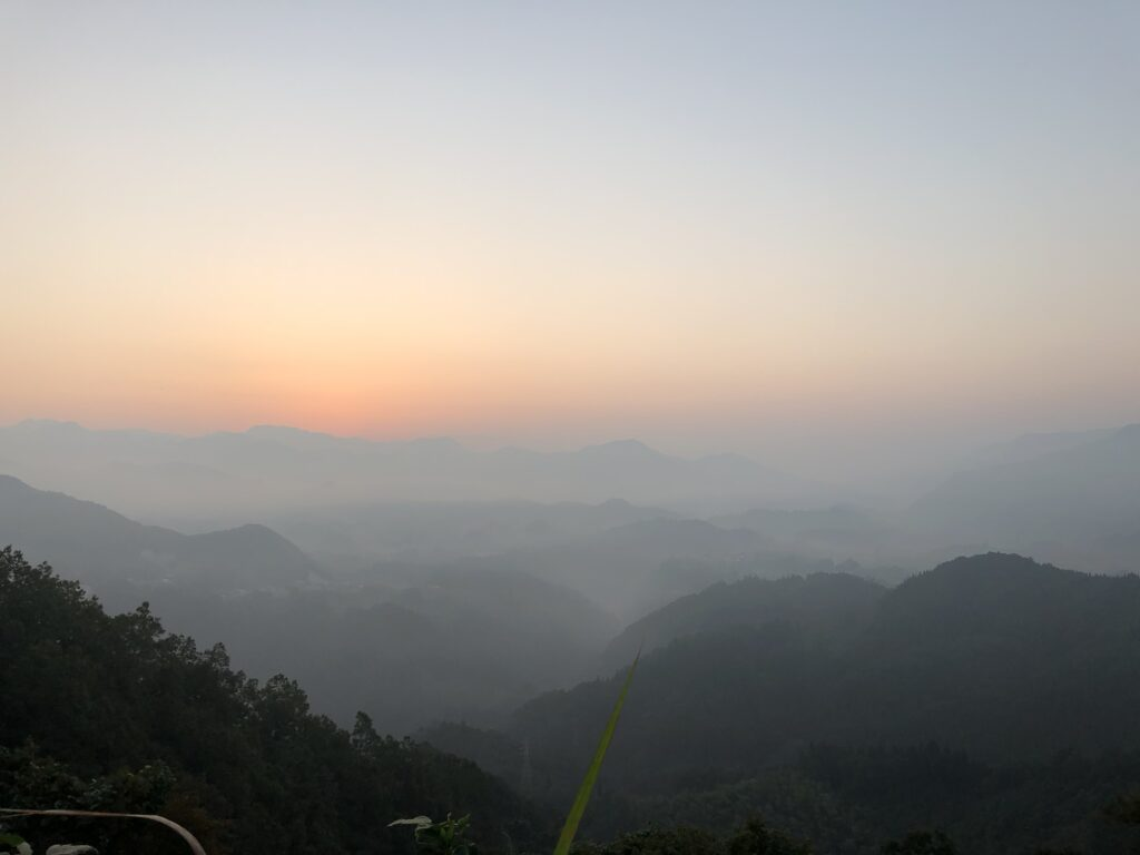 宮崎の国見ヶ丘でみた雲海