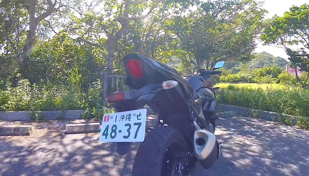 GSX250Rのテールランプ